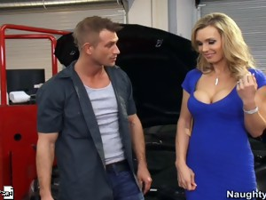 Hot blonde mom Tanya Tate loves to fuck her sons friends rough anywhere.