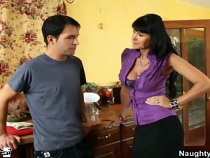 Eva Karera sucks and fucks a big dick.