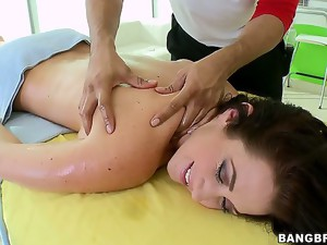 Jayden is in for a little massage after a long day! Check out