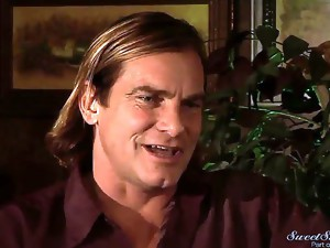 Evan Stone started to flirt with Skin Diamond. And