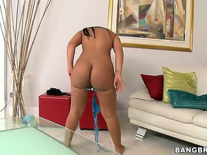 The two wild flowers - Imani Rose and Rose are exercising together without any panties