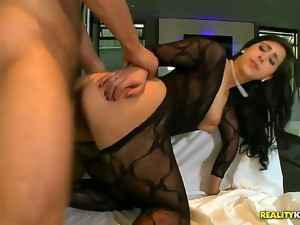 Cuban hottie Valerie Kay has a really nice ass, and studs love it