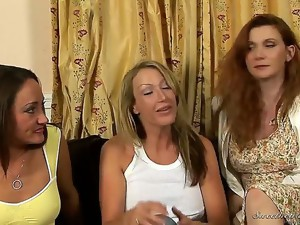 Mia Presley, Randi James and their friends are having a girls night at home, and things get hot