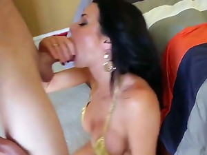 Joey Brass spends time with gorgeous big tittied woman Veronica Avluv. She shows