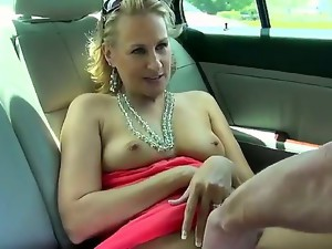 Gorgeous and horny blonde milf with amazing body and sexy bubble butt enjoys in getting her
