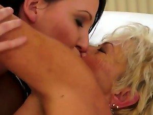 Malya is a naughty grandma and she loves to hang out with young chicks, just like Chanel. Just take