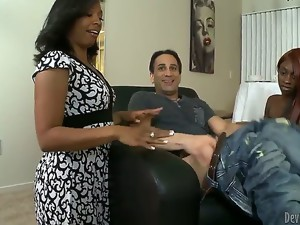 Anita Peida is a smoking hot black milf with an equally hot daughter Sky Hustle. She wants her