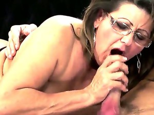 Pete is happy to offer his big, young cock in service of that mature pussy,