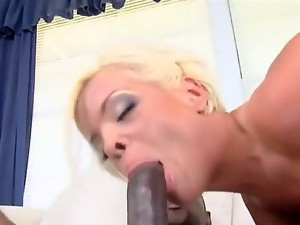 Hot milf Jordan Blue prefers to have fun with ebony men! This time is not the
