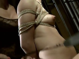 Young naive babe Barbie Pink with hot body gets stripped and tied up in uncomfortable