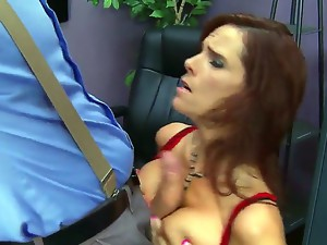 Cock addicted horny redhead milf Syren