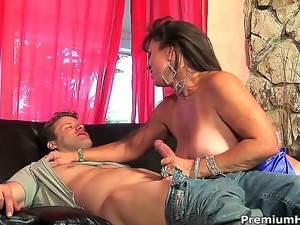 Anita Cannibal is a raunchy milf always ready to gobble on a stiff cock, and she just got