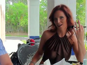 Attractive hungry for fuck redhead milf