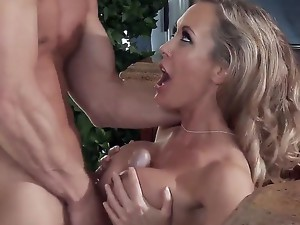 Luxurious big tittied milf Brandi Love is screwing with her baldheaded boyfriend Johnny Sins in