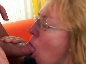 Chubby pale mature blonde whore Marie