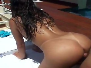 Ultra-hot Latina couple Anselmo and Tarsila show us really great fuck. This