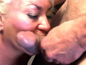 Sweet mature lady Dana Hayes is being drilled in her hairy cunt by the nice