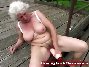 grandma,granny,mature,outdoor,toys,older,masturbation