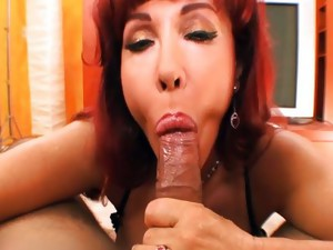 Couple;Oral Sex;Mature;Redhead;Big Tits;Caucasian;Blowjob;POV;Cum Shot;MILF
