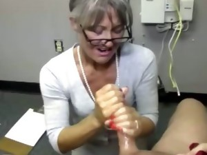 big tits,blonde,cougar,handjob,jerking,mature,milf,tugjob