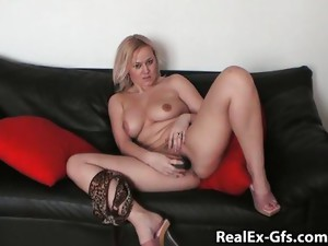Solo Girl;Masturbation;Blonde;Caucasian;Vaginal Masturbation;Toys;Amateur