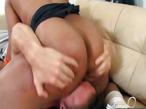 Couple;Vaginal Sex;Oral Sex;Black-haired;Ebony;Interracial;Blowjob;Licking Vagina;Position 69;Cum Shot;Big Ass;Facial