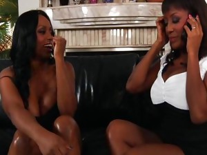 Vaginal Sex;Masturbation;Oral Sex;Anal Sex;Brunette;Ebony;Vaginal Masturbation;Blowjob;Licking Vagina;Cum Shot;Threesome;Big Ass;High Heels