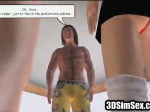 3d,animation,big tits,hentai,schoolgirl,threesome